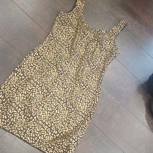 Gold Black leopard print tank club dress NWOT S